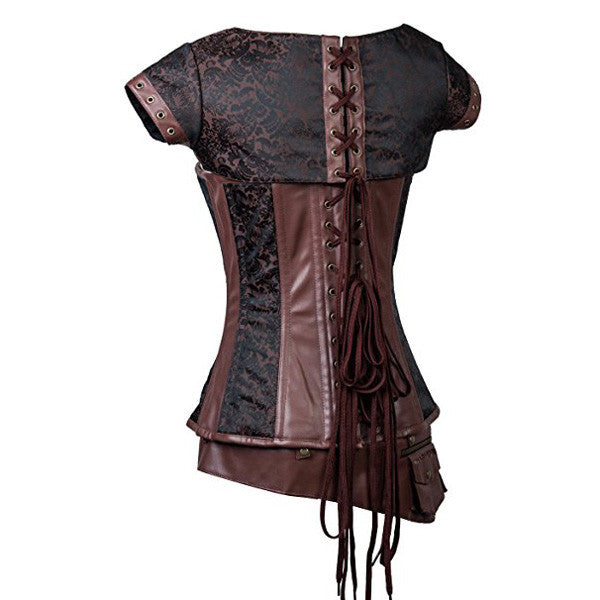 Victorian Vintage Brocade Costume Steampunk Overbust Corsets Tops
