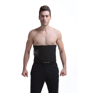 Waist Trimmer Belt for Men Premium Stomach Wrap Slim Sweat Sport Black