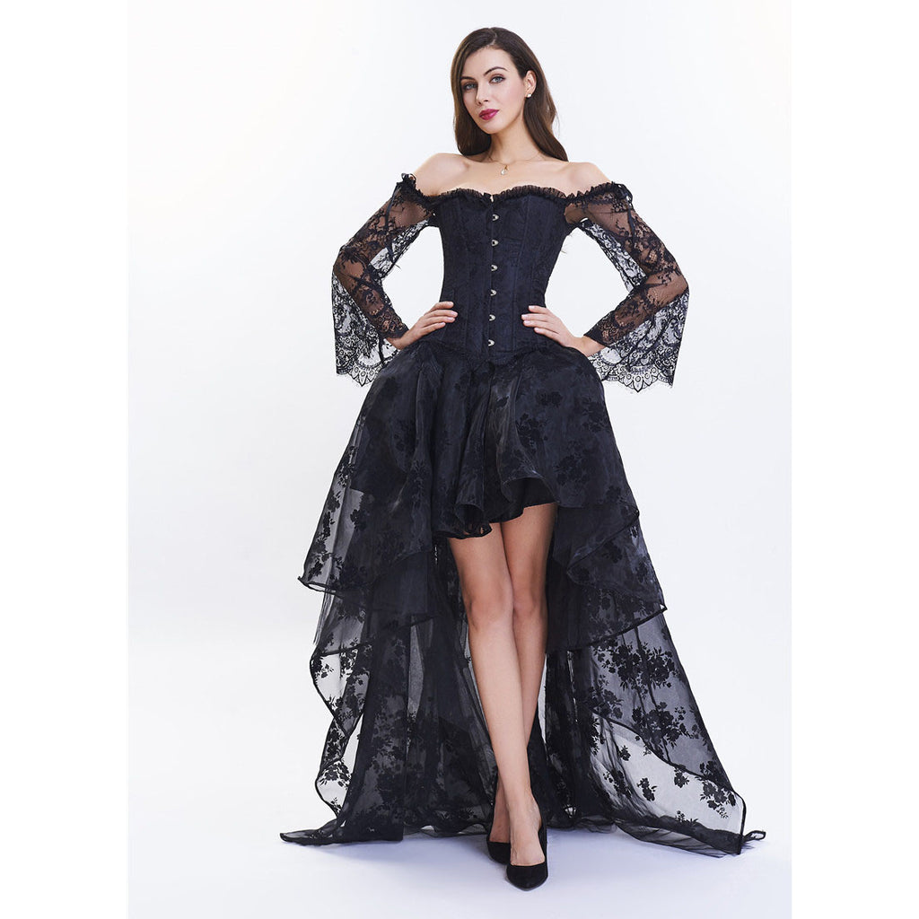 Women's Gothic Vintage Victorian Ball Gown Corset Dress