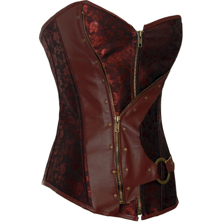 Women's Steampunk Classic Gothic Overbust Corset