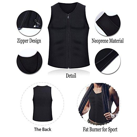 Hot Sweat Sauna Vest Slimming Body Shaper for Men