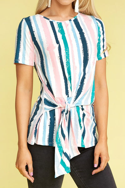 Brushstrokes Knotted Top