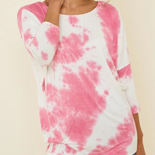 Tie Dyed Dolman Top