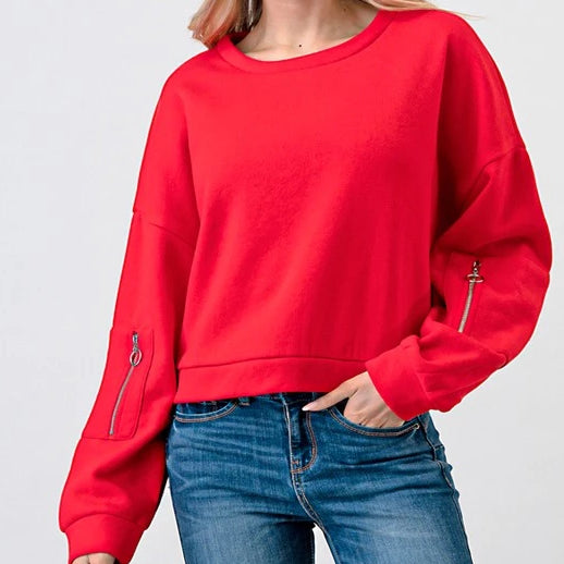 OMG-Ring Long Sleeve Top