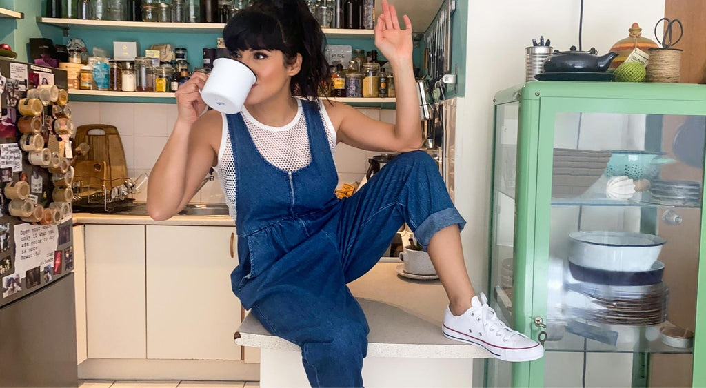 sanaz the label denim overalls home page