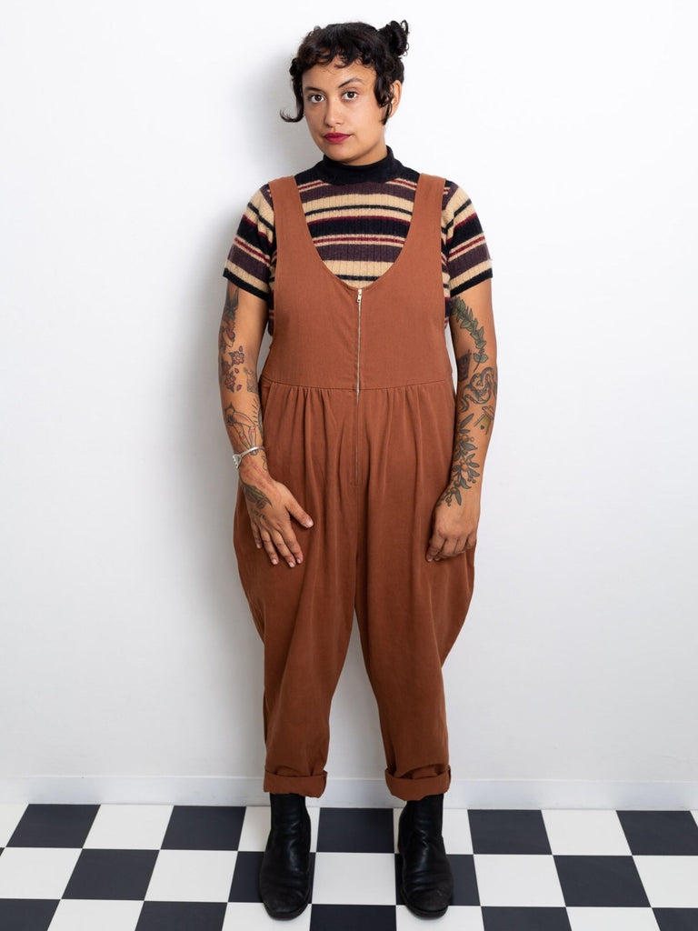 Jessie Overalls - Tan Cotton Drill