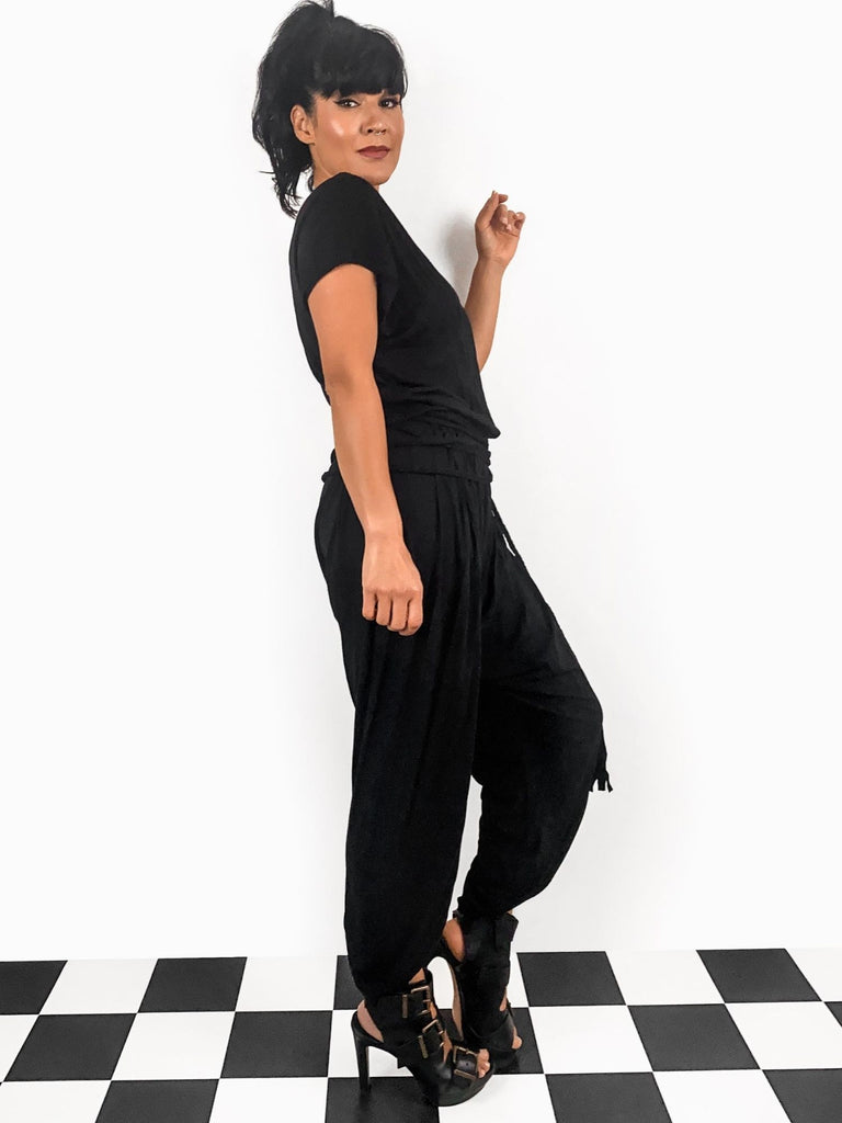 Sanaz Designs black Ava jumpsuit