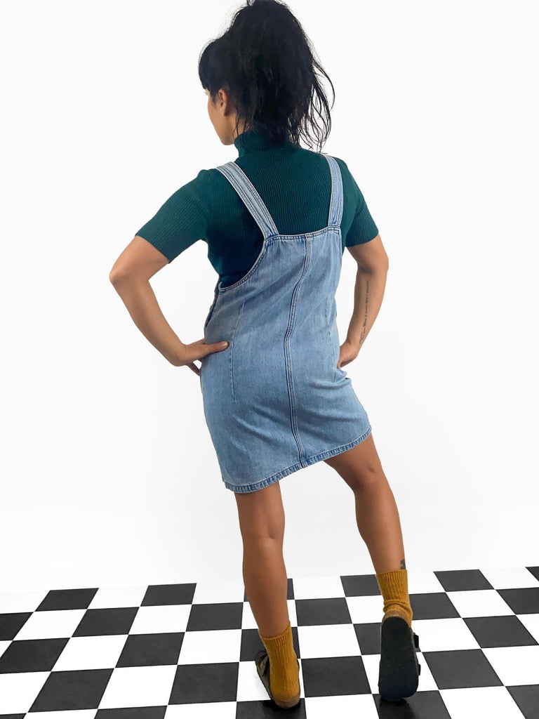 Dungaree dress with pockets