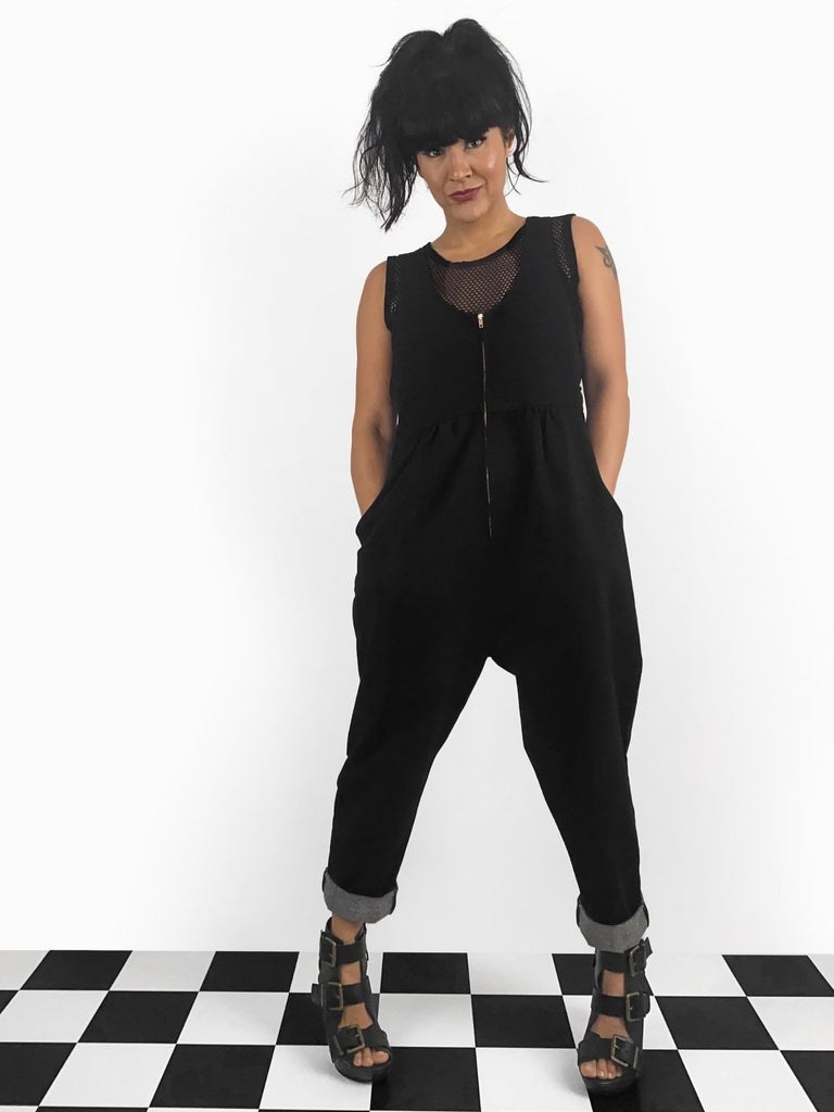 Jessie Overalls in Black