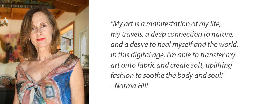 The Story of Artist Norma Hill Transforming Her Art to Fashion