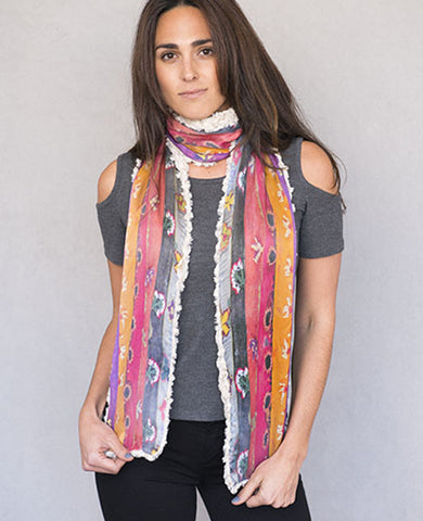 African Rainbow Scarf - Reversible