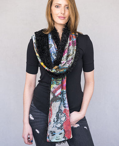 Berlin Heart Scarf - Reversible