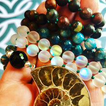 Earth Ocean Sky Ammonite Mala