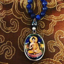 Lapis and Hematite Buddha Mala