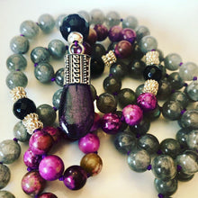 Sugilite and Labradorite Mala