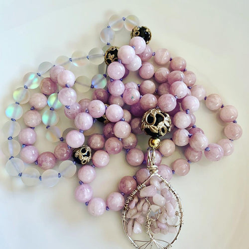 Kunzite Tree of Life Mala