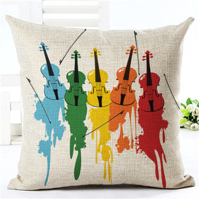 Music Series Throw Pillow Cover
