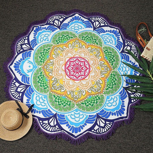 HUGE Lotus Printed Bohemian Beach Throw Tapestry