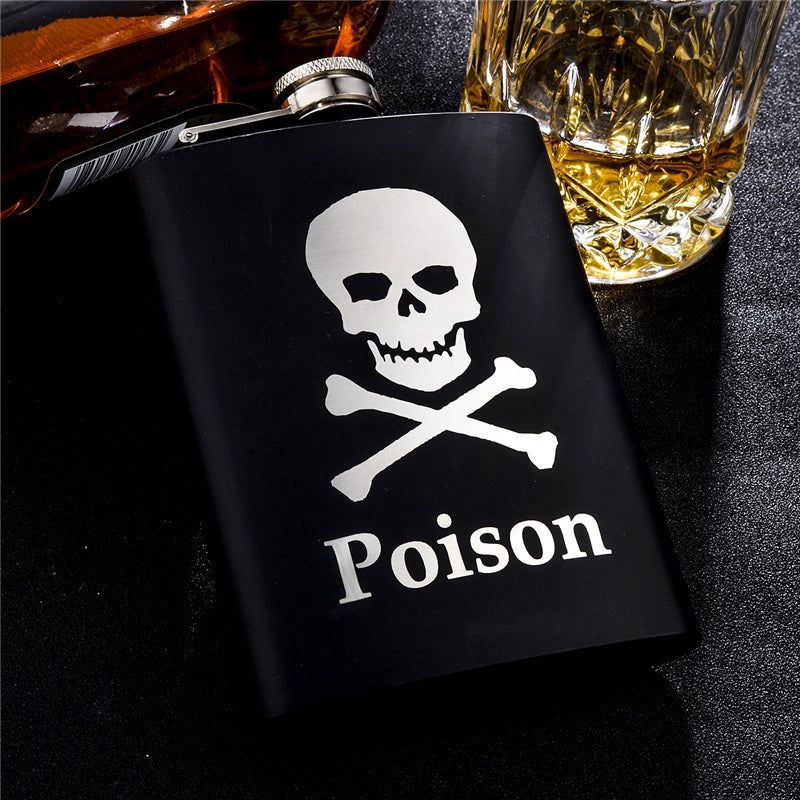 Pirate Skull Stainless Steel Hip Flask