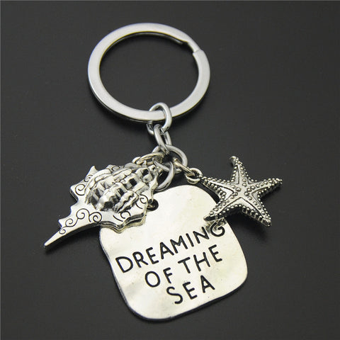 Starfish Conch Key Chain/Ring