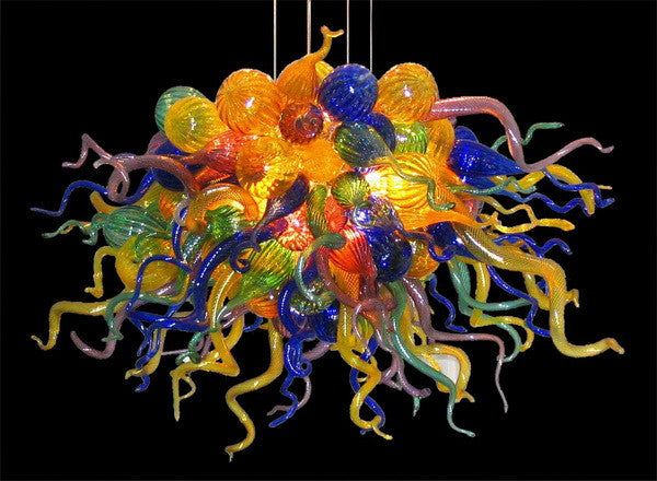 Party Led Chandelier Hand Blown Glass