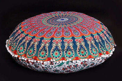 Large Floor Pouf Cushion Covers