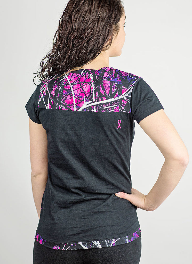 Muddy Girl Camo | Breast Cancer Short Sleeve Shirt