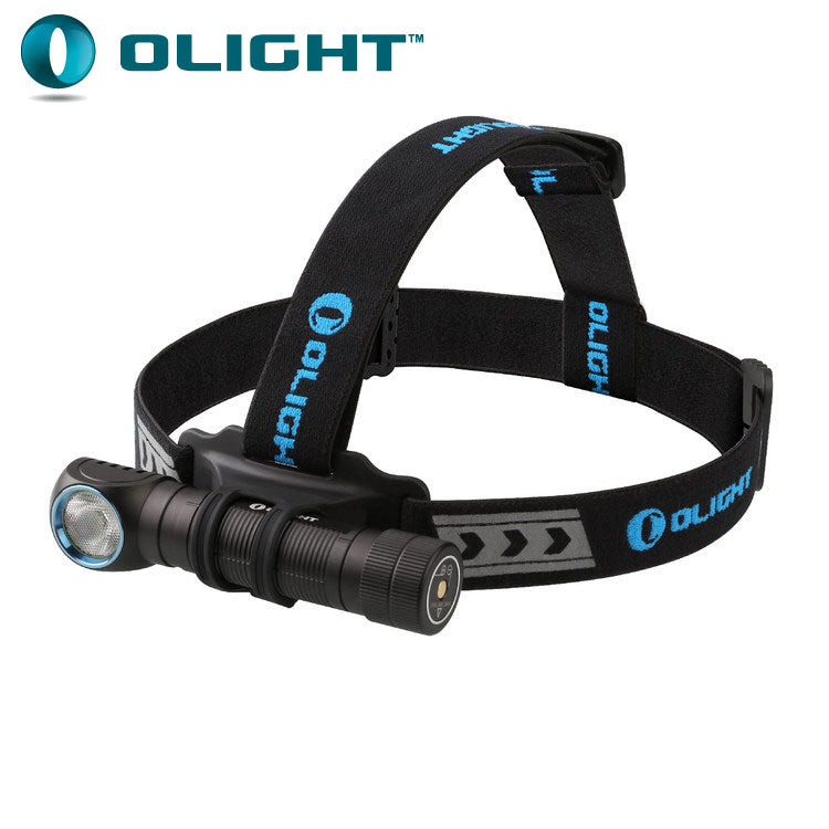 Olight H2R Nova 2300 lumen rechargeable LED headlamp and angle torch