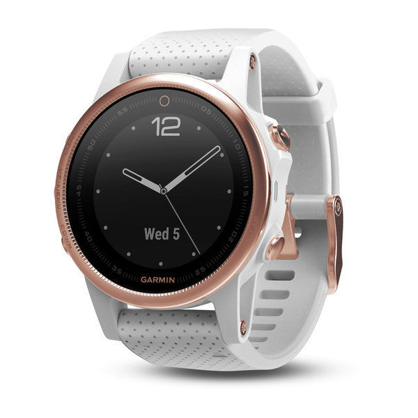Garmin Fenix 5S HR Sapphire GPS Multisport Watch Rose Gold