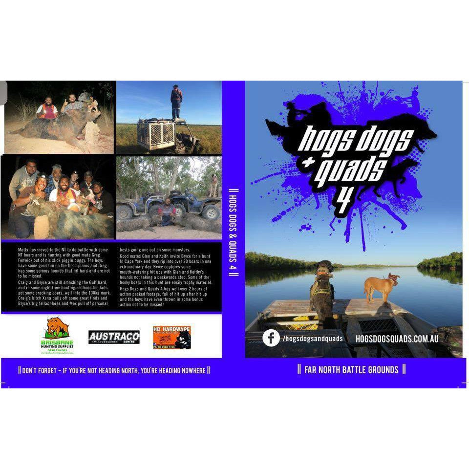 Hogs Dogs and Quads 4 DVD | Brisbane Hunting Supplies | DVDs