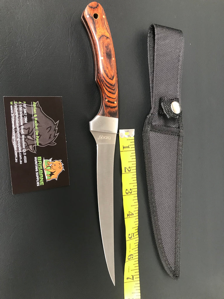Fury Flexi Fillet Knife w Pakkawood Handle