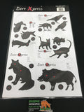 Mixed Animal Targets Pack of 10