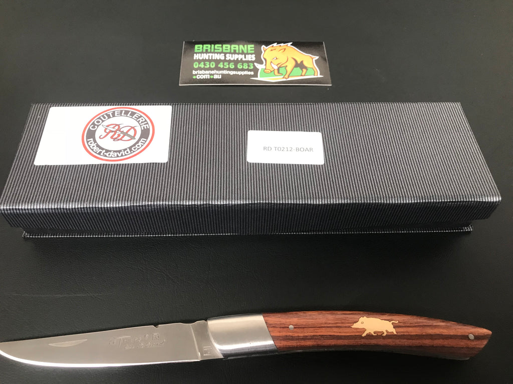 Robert David 12cm handle inlaid with pig
