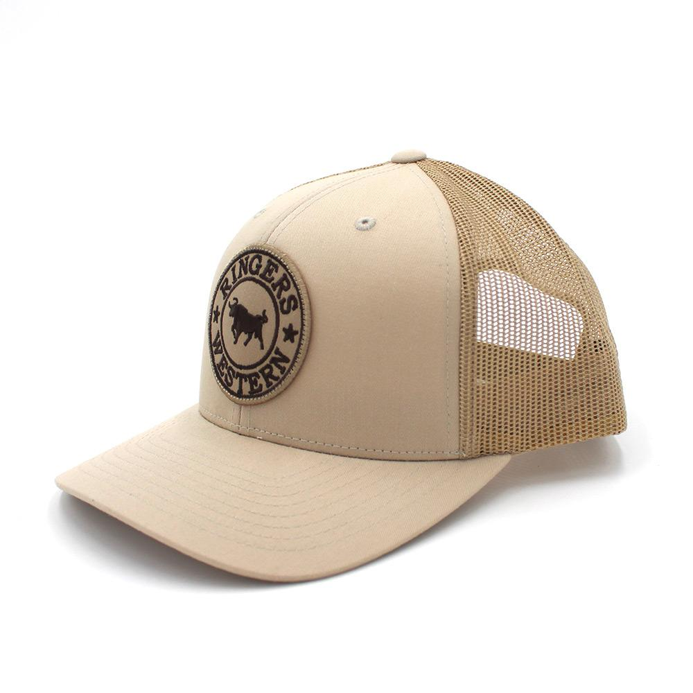 Ringers Western Bone Signature Bull Trucker with Bone & Chocolate Patch