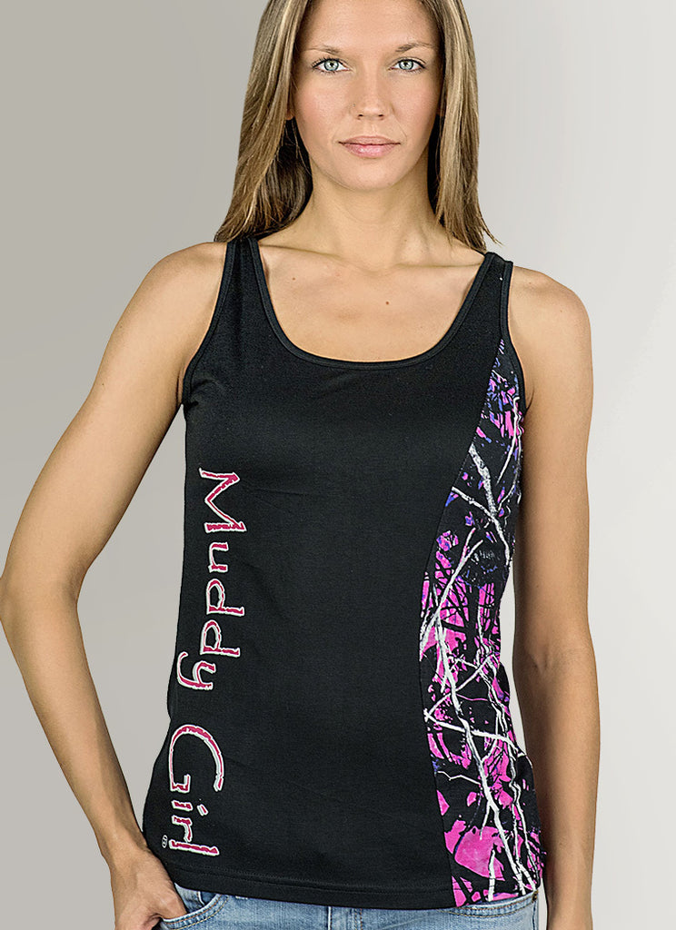 Muddy Girl Camo |Black Camo Edge Tank Top