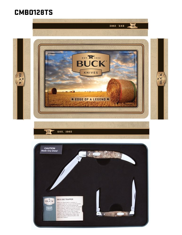 Buck Large Toothpick and Deuce Knives Combo Gift Set - Set of 2 Knives
