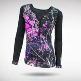 Muddy Girl Camo | Women's Pink Camo Henley | Brisbane Hunting Supplies