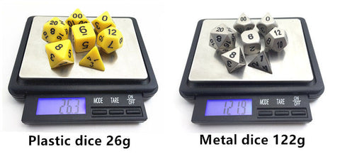 Dice Nerdery: What's so good about metal dice? – Imaginary Adventures