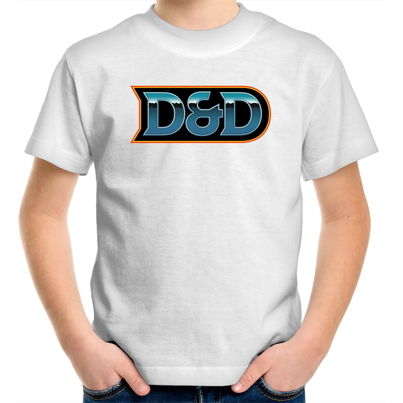 D&D 80's Logo - Kid's Youth T-Shirt - Imaginary Adventures