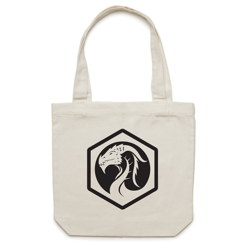 Canvas Tote Bag - Dragon Logo - Imaginary Adventures