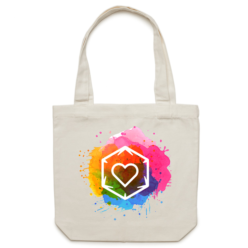 Canvas Tote Bag - Rainbow Love - Imaginary Adventures