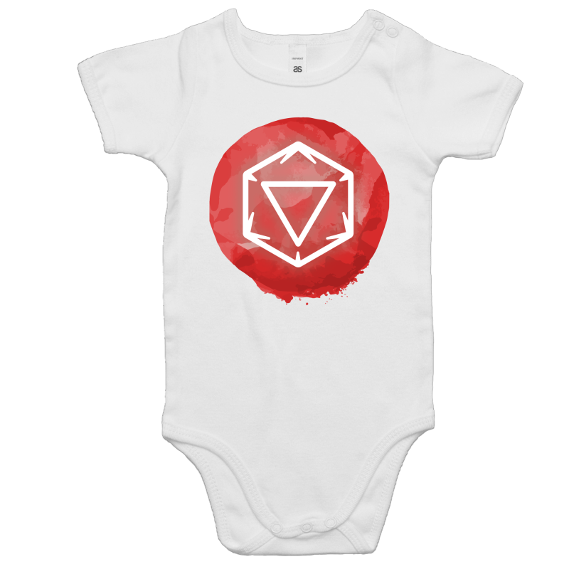 Imaginary Adventures Logo on Red - Baby Onesie Romper - Imaginary Adventures