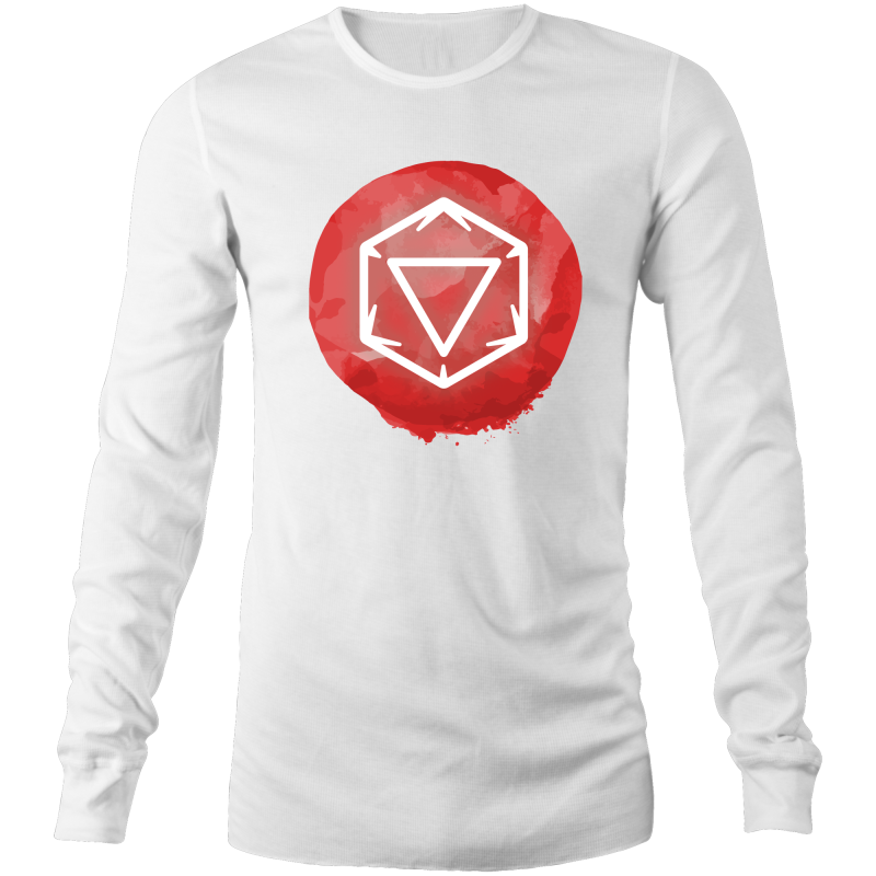 Imaginary Adventures Logo on Red - Long Sleeve Shirt - Imaginary Adventures