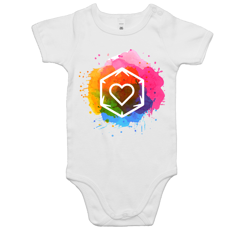 Rainbow Love - Baby Onesie Romper - Imaginary Adventures