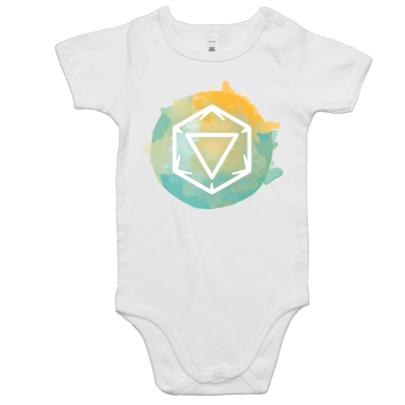 Imaginary Adventures Logo on Teal - Baby Onesie Romper - Imaginary Adventures