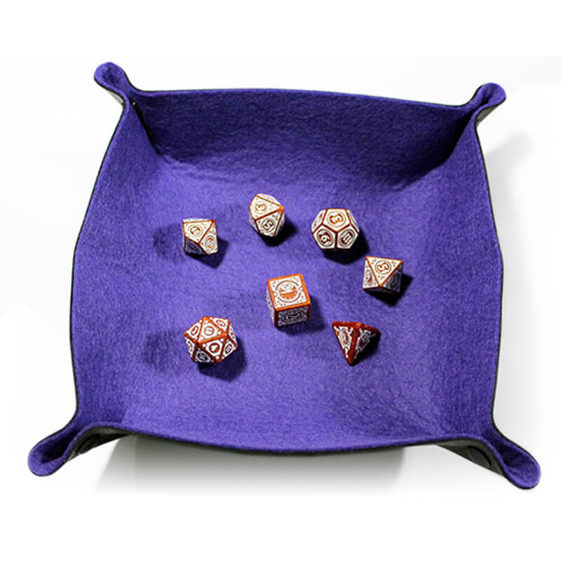 All Rolled Up Dice Tray - Plum - Imaginary Adventures