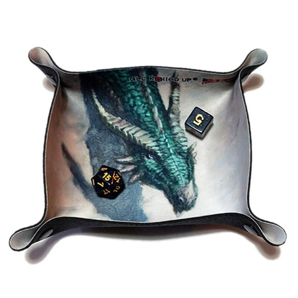 All Rolled Up Compact Dice Tray - Azure Dragon - Imaginary Adventures