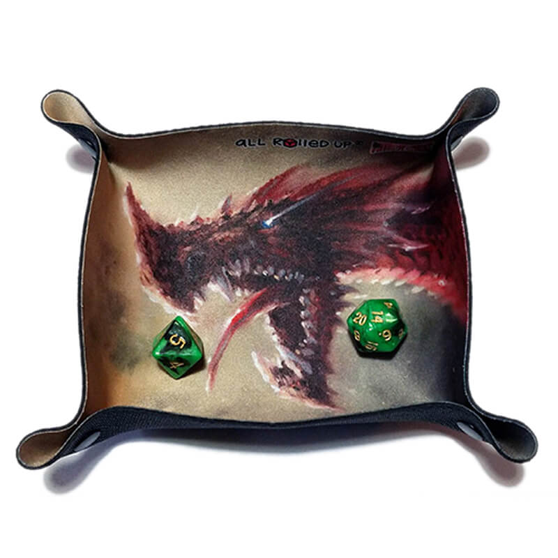All Rolled Up Compact Dice Tray - Raargh Dragon - Imaginary Adventures