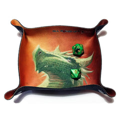 All Rolled Up Compact Dice Tray - Verdant Dragon - Imaginary Adventures