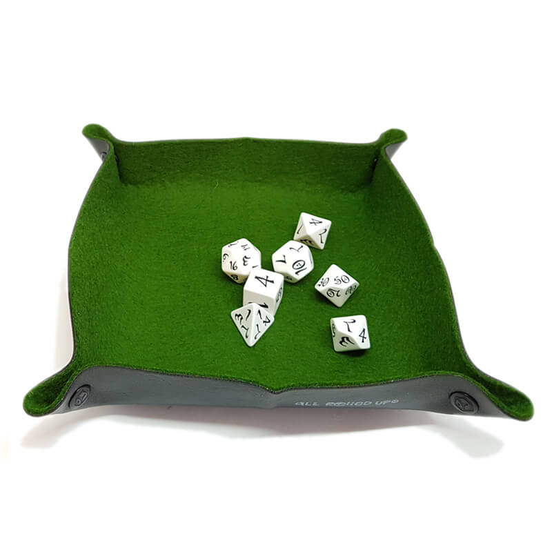 All Rolled Up Dice Tray - Green - Imaginary Adventures